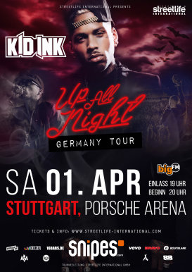 Kid Ink - Up All Night Germany Tour