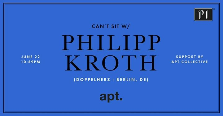 party p1 club x apt can 39 t sit w philipp kroth berlin p1 in m nchen. Black Bedroom Furniture Sets. Home Design Ideas