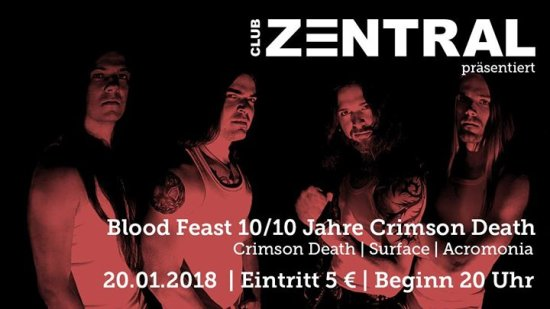 Blood Feast 10/10 Jahre Crimson Death