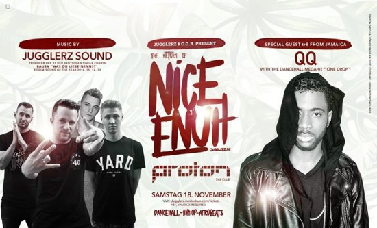 "Tonight: Nice Enuh - Jugglerz Sound ft. QQ (Mr. ""One Drop"")"
