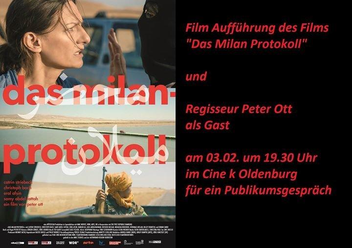 party das milan protokoll film regiegespr ch in oldenburg cine k in oldenburg. Black Bedroom Furniture Sets. Home Design Ideas