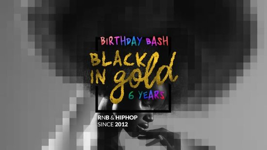 6 Years Black in Gold Birthday Bash