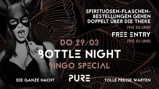 BottleNight x BINGO Special | Vorfeiertag - PURE (HipHop & RnB)
