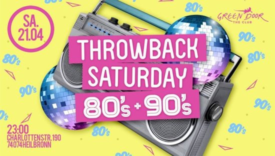 Throwback Saturday 80's + 90's
