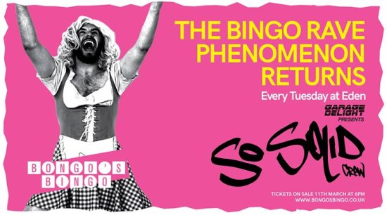 Bongo's Bingo Ibiza residency with special guests So Solid Crew!