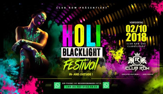 Holi Blacklight Festival