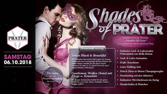 Shades of Prater - Die Party zum Film Shades of Grey