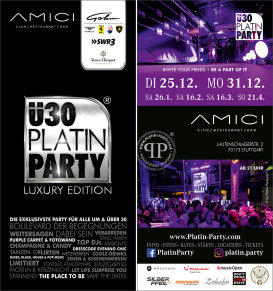 Stuttgart. ü30 Platin Party 'Luxury Edition' im Amici